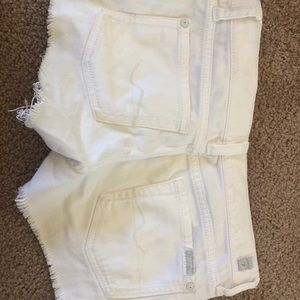 kids seven for all mankind white denim shorts